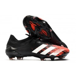 Zapatillas adidas Predator Mutator 20.1 Low FG Negro Blanco Rojo
