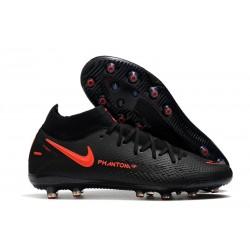Nike Phantom GT Elite AG-Pro Botas de fútbol Negro Rojo Chile Gris humo oscuro