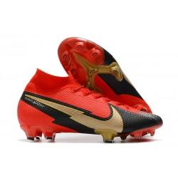 Nike Mercurial Superfly VII Elite DF FG Rojo Negro Oro