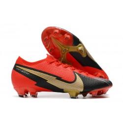 Nike Mercurial Vapor 13 Elite FG Rojo Negro Oro