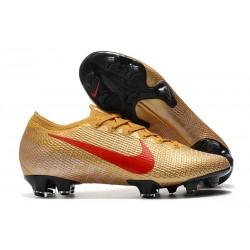 Nike Mercurial Vapor 13 Elite FG Oro Rojo