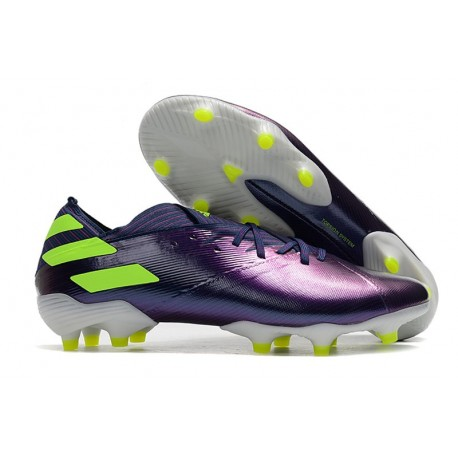 Zapatillas de Futbol adidas Nemeziz 19.1 FG - Violeta Verde