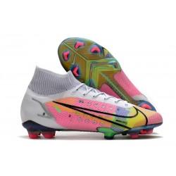 Zapatos de Fútbol Nike Mercurial Superfly 8 Elite FG Blanco Multicolored