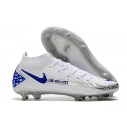 Botas Nike Phantom GT Elite DF FG Blanco Azul