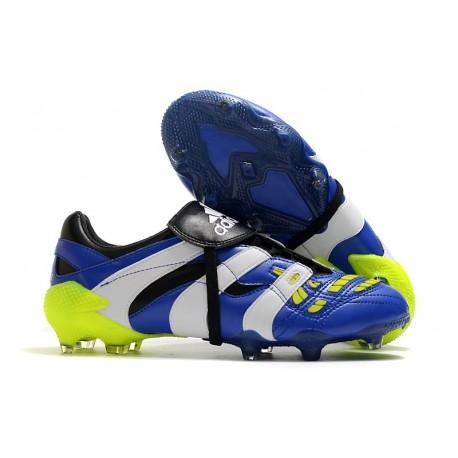 Zapatillas adidas Predator Accelerator FG - Azul Blanco Amarillo