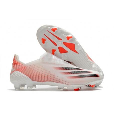 Botas de Futbol adidas X Ghosted+ FG Blanco Rosso Negro