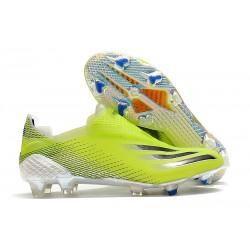 Botas de Futbol adidas X Ghosted+ FG Amarillo Solar Negro Azul Royal