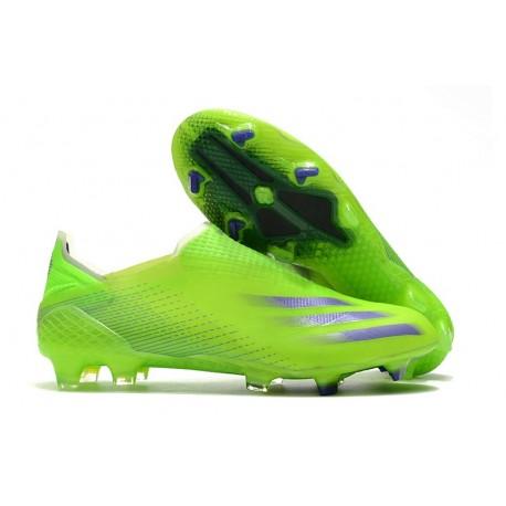 Botas de Futbol adidas X Ghosted+ FG Verde Tinta Energía