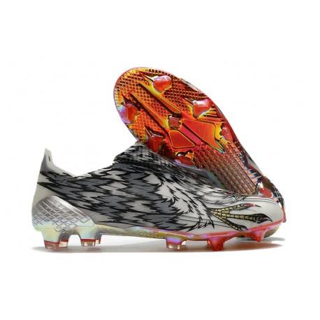 Botas de Futbol adidas X Ghosted+ FG Negro Rosso Blanco