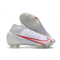 Zapatos de Fútbol Nike Mercurial Superfly 8 Elite FG Blanco Rojo