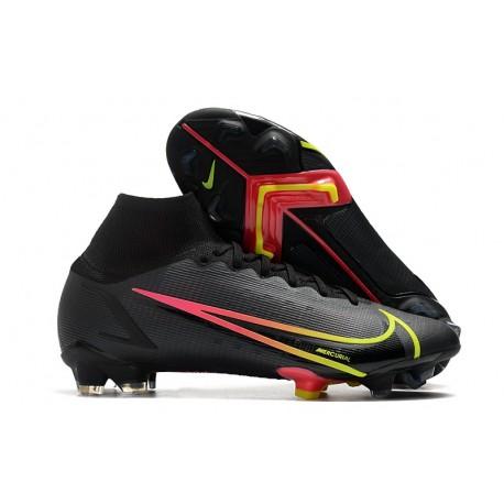 Zapatos de Fútbol Nike Mercurial Superfly 8 Elite FG Negro Rojo