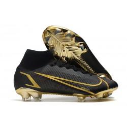 Zapatos de Fútbol Nike Mercurial Superfly 8 Elite FG Negro Oro