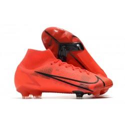 Zapatos de Fútbol Nike Mercurial Superfly 8 Elite FG Rojo Negro