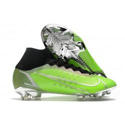 Nike Mercurial Superfly VIII Elite DF FG Verde Negro Plata
