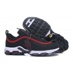 Nike Air Max 97 Plus de Hombres - Negro Rojo
