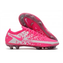 Botas de Fútbol Nike Phantom GT Elite FG Rosa Blanco