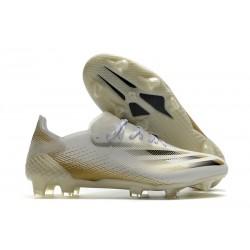 Zapatos adidas X Ghosted.1 FG Blanco Negro Dorado Metalizado Jaspeado