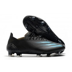 Zapatos adidas X Ghosted.1 FG Negro Cyan Gris