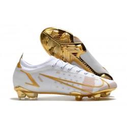 Nike Mercurial Vapor 14 Elite FG Blanco Oro