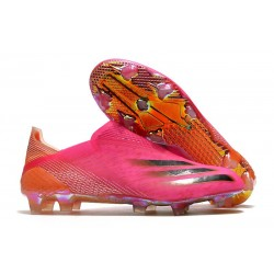 Botas de Futbol adidas X Ghosted+ FG Rosa Negro Naranja