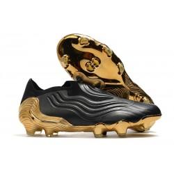 Zapatos de Fútbol adidas Copa Sense+ FG Negro Blanco Dorado Metallic