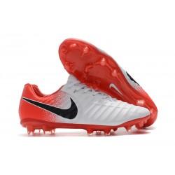 Bota de fútbol Nike Tiempo Legend 7 Elite FG - Blanco Rojo